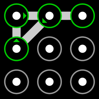 Android Pattern 2-4-1-3