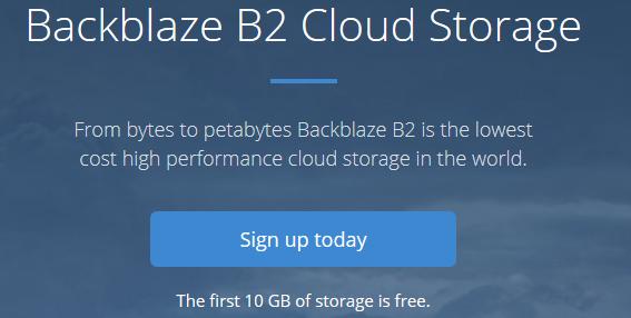 Sign up to backblaze