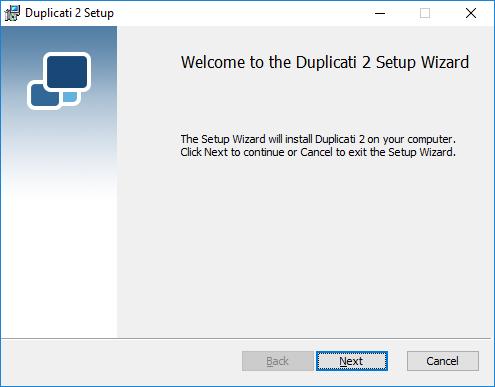 Duplicati Windows Installer