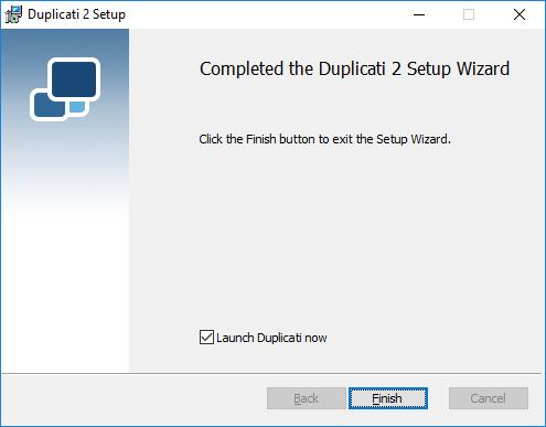 Duplicati Windows Install