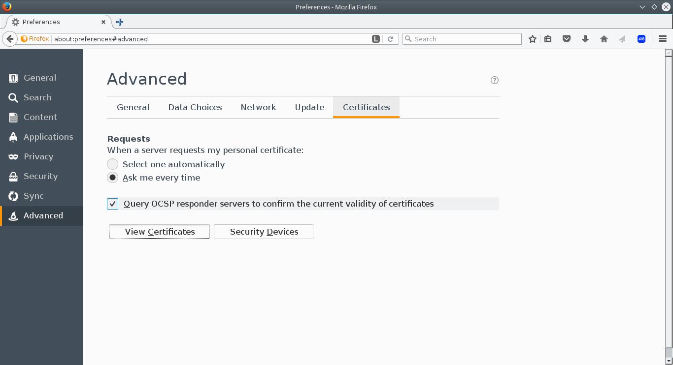Firefox Import Certificate