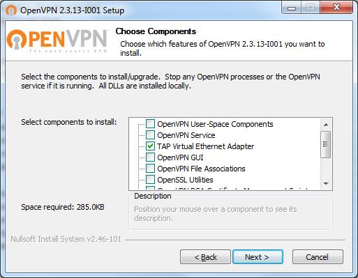 Installing openVPN TAP adapter