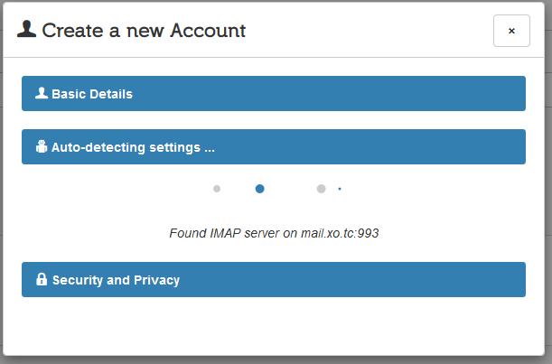 Mailpile Auto detect settings