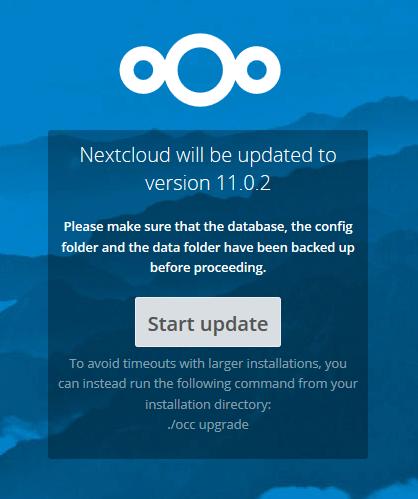 start database upgrade