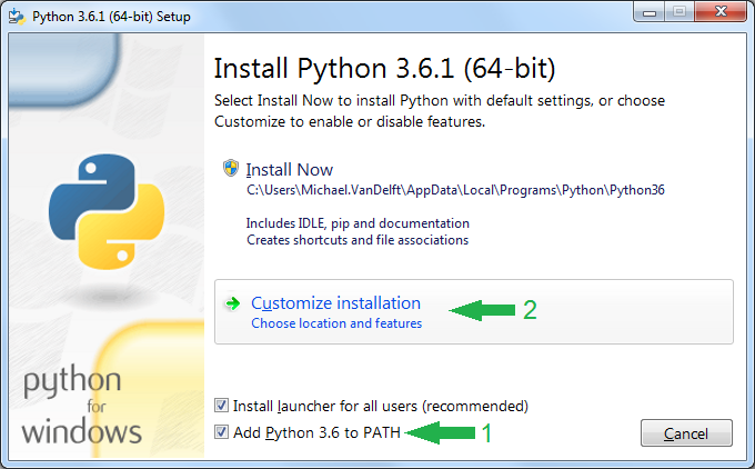 Installing Python 3 6 on Windows – Exotic Security