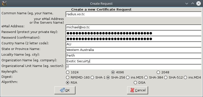 FreeRADIUS Certificate