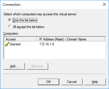 SMTP Virtual Server - Connections